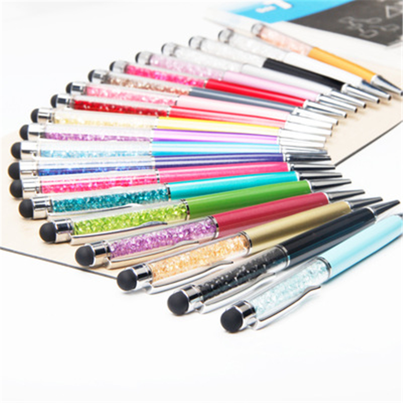 Whoesale Crystal pen Ballpoint pen Lady Student Lovely Crystals Stellar Pen Cute Stationery Store School supplies Can print logo