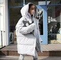 Корейский стиль мода зима 2015 куртка женщин толщиной верхняя одежда зимнее пальто парки Большой размер теплый парк одежда Q331