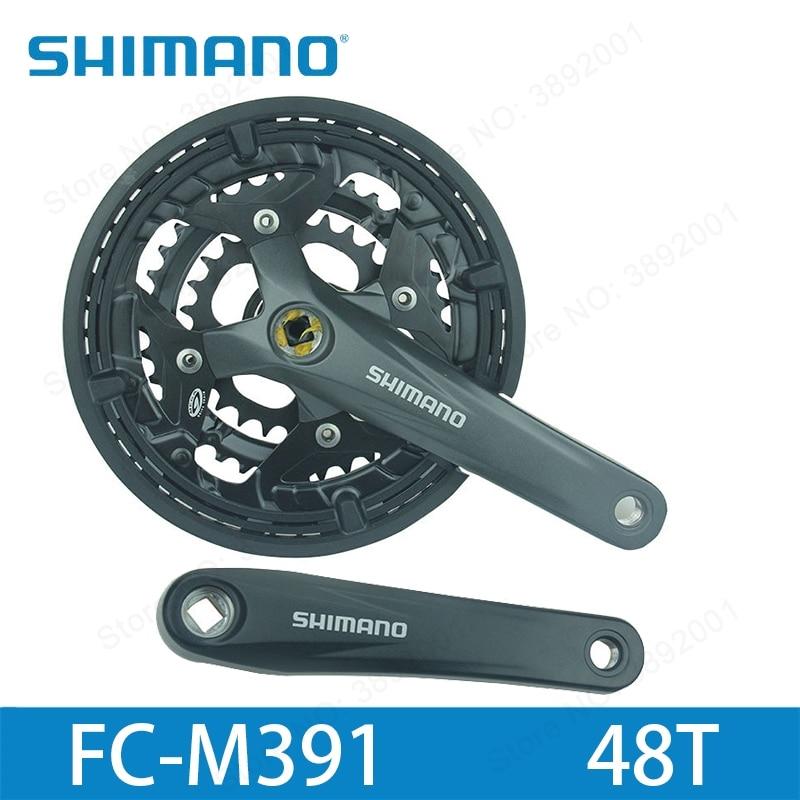 SHIMANO ACERA FC-M391 MTB Mountain bike / travel bike crank set sprocket 26/36/ 48T bicycle crank group parts цена