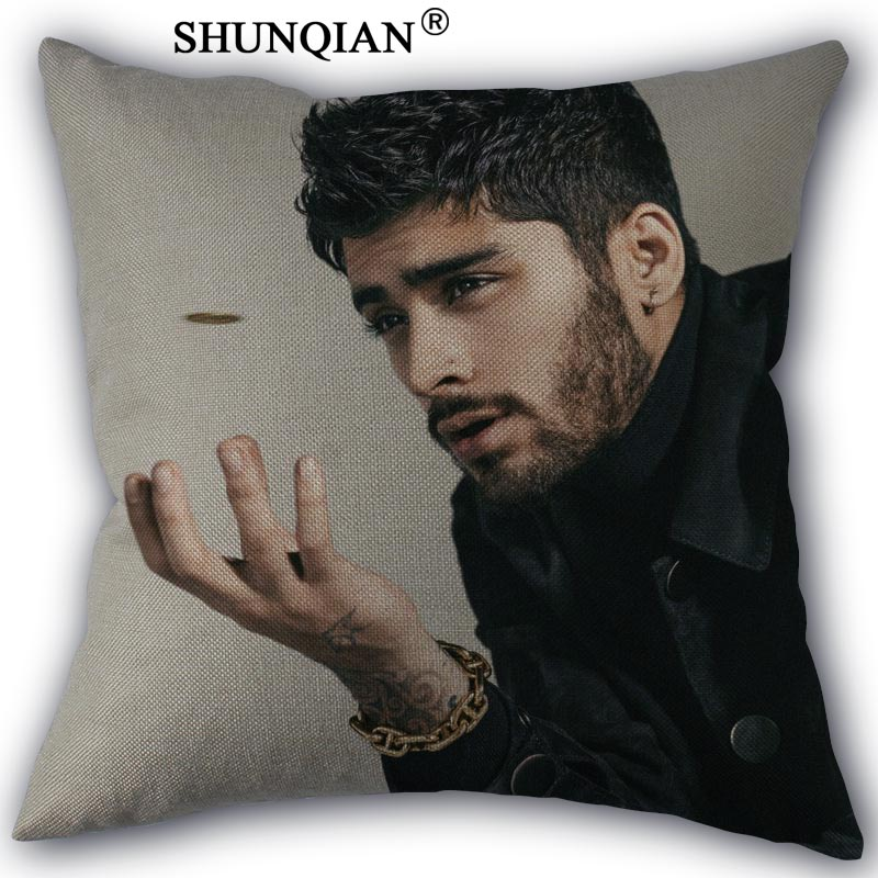 zayn malik Pillowcase Cotton Linen Square Zippered Pillow Cover Unique Design Customize Your Picture 45x45cm one side