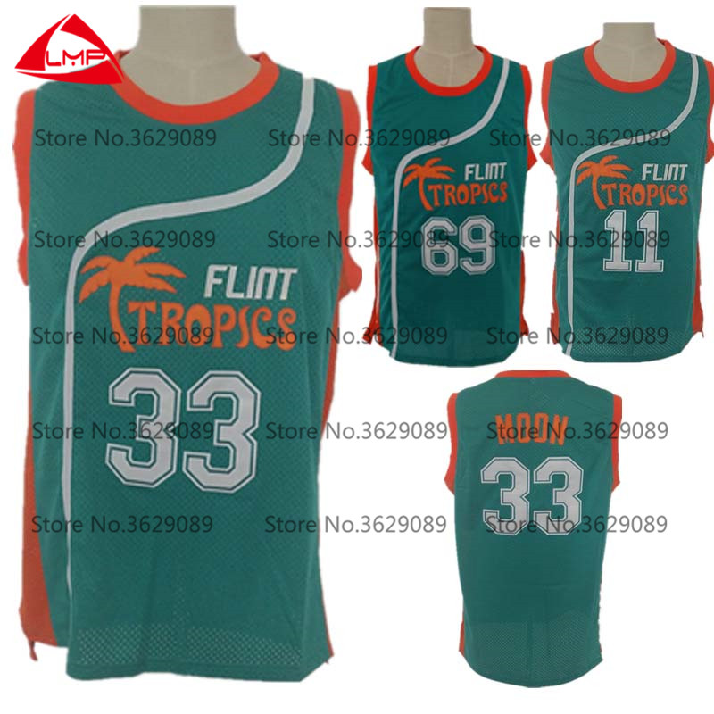 bbbf92654baa Semi PRO Flint Tropics jersey 33  Jackie Moon 7  Coffee Black 11  Ed Monix  69  Downtown Throwback Basketball Jersey All Stitched
