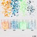 1 caja de 10 ml de uñas lentejuelas 1mm orange blanco verde azul del brillo del clavo tips manicura nail art decoración