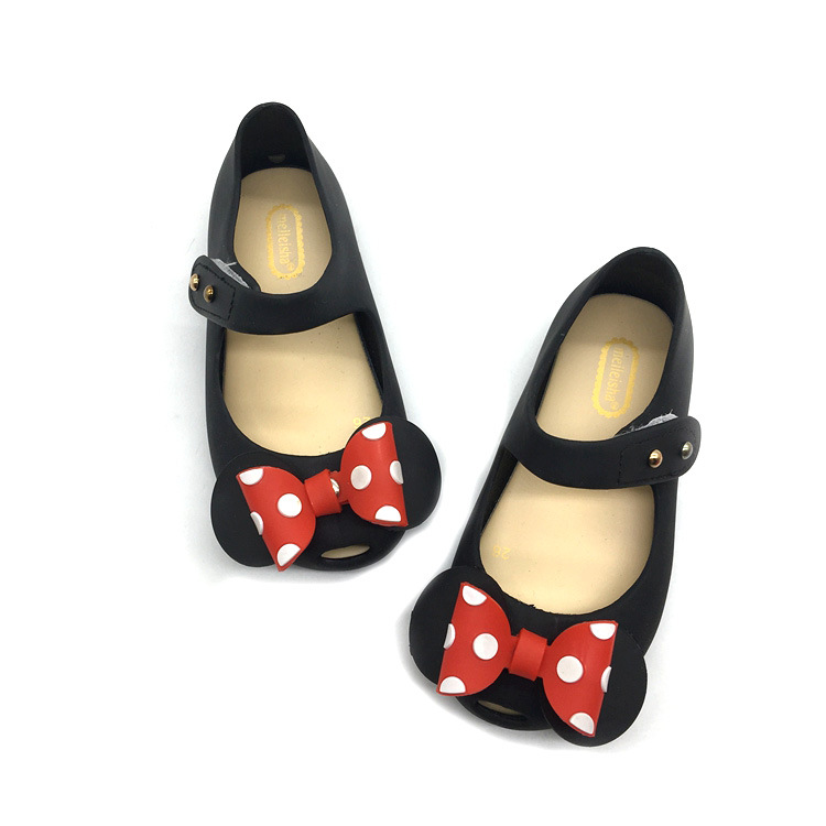 Mini Melissa jelly Sandalias Wave Point Mickey pajarita Sandalias chica peces boca princesa Sandalias cómodo Zapatos mini Melissa