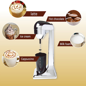220V Electric Milk Frother kitchen Coffee Milk Blender Mixing Multifunctional Foam Maker Milkshake EU/UK Plug 4