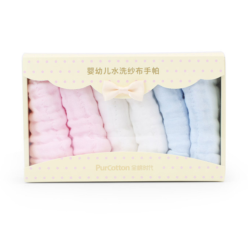 Face Baby Cotton Gauze Muslin Towel Squares Carre De Coton Washcloth Small Baby Towel Wash Cloth Handkerchiefs 6 Loaded 50A009 new high quality comfortable face towel hand towel 3 colours