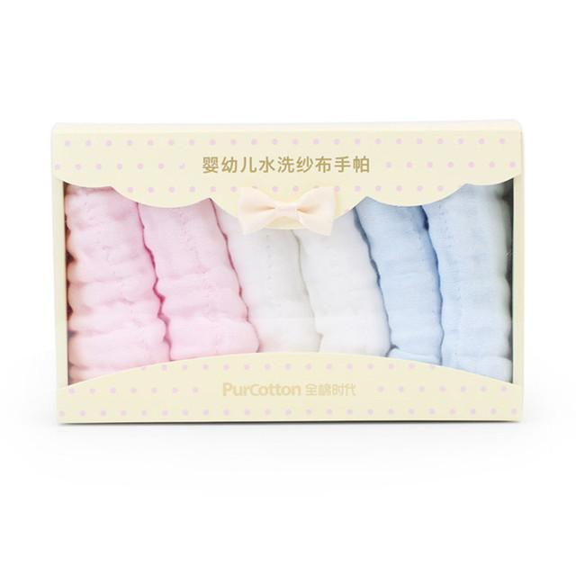 Rosto carre towel quadrados de musselina de algodão do bebê do algodão gaze toalha bebê pequeno towel lenços de pano de lavagem 6 carregado 50a009
