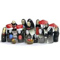 15 スタイル宮崎駿スタジオジブリ顔かわいい千と千尋顔 Pvc アクションフィギュアモデルのおもちゃコレクション玩具