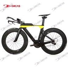 Новинка, TT Рама для дорожного велосипеда, Триатлон, карбоновая рама+ вилка+ подседельный штырь+ гарнитура+ TT руль