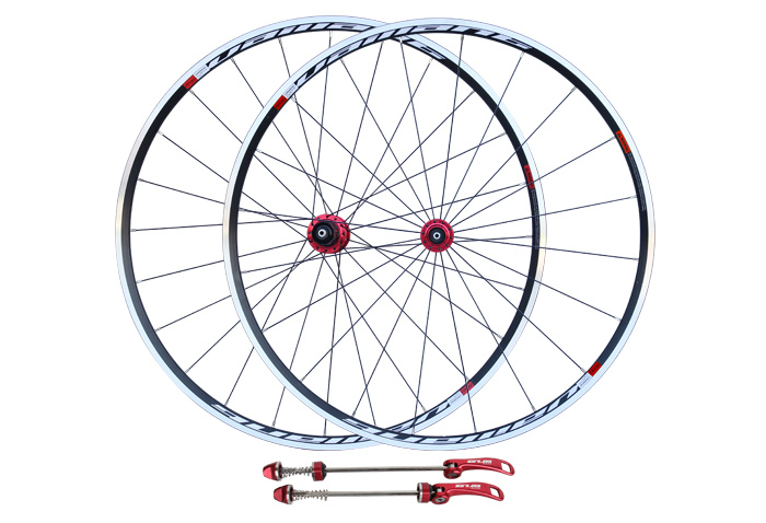 700C V brake alloy cycling road wheelset process anodization black finish cheap wheels 10 11speed compatible gub aluminum v brake road bike wheels 42mm cheap wheels with alloy brake surface clincher wheelset 700c 10 11speed compatible
