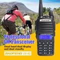 Baofeng uv82 vhf uhf 137-174 400-520 mhz rádio em dois sentidos rádio transceptor dual band walkie talkie freqüência portátil comunicador