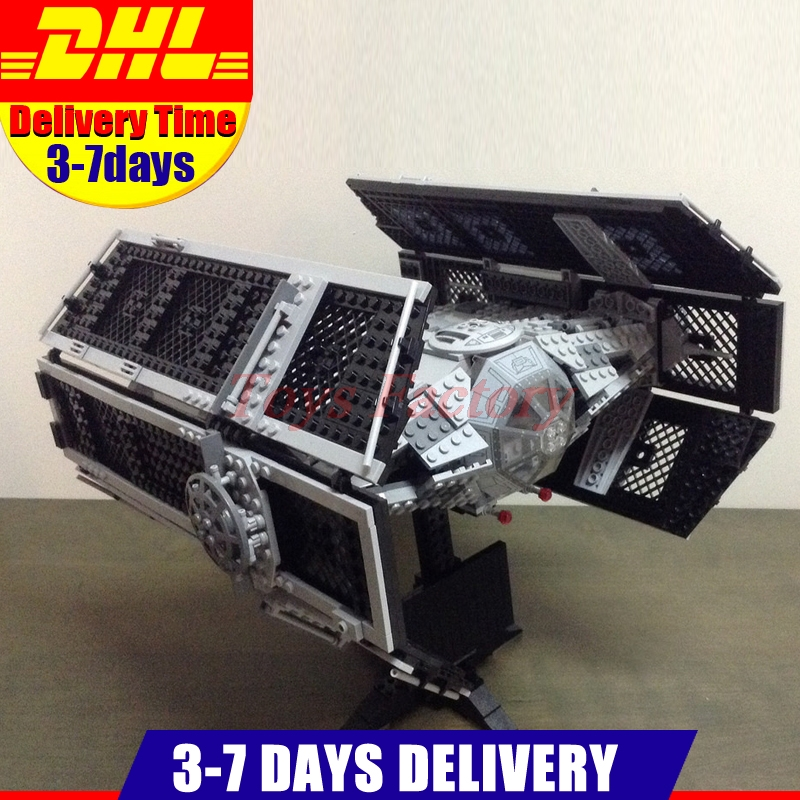 DHL Lepin 05055 UCS Series The Rogue One USC Vader TIE Advanced Fighter Set 10175 Building Blocks Bricks Educational Toys new 1685pcs lepin 05036 1685pcs star series tie building fighter educational blocks bricks toys compatible with 75095 wars