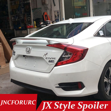 JNCFORURC Rear Trunk Car Spoilers Wings For Honda Civic 10th Generation 2016 2017 JX Style High Performance ABS Car Spoiler