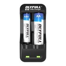 DLYFULL U2 aaa cargadores de batería para aa cargador 1,2 V NiMH NiCD pantalla LED Dual ranuras cargador de pilas recargables usb