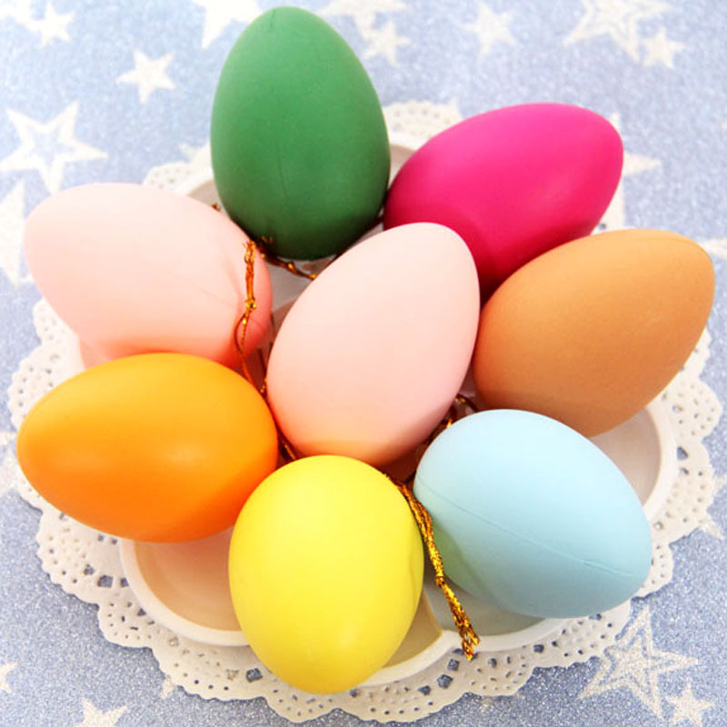 Painted Eggs Simulation Of Colored Egg Shells Children's Hand-painted Toys Easter Kindergarten DIY Handmade Goods