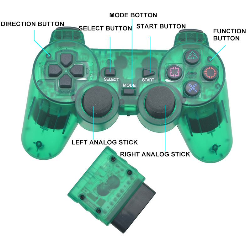 Generic Transparent Color Bluetooth Wireless Controller For Sony