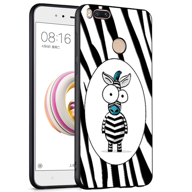check out 1dcb0 5fbf2 US $2.99 40% OFF|Xiaomi Mi A1 Case 3D Relief Cartoon Xiaomi Mi 5X Case  Painting Silicone Soft Cover For Xiaomi Mi5X MiA1 Back Cover Phone Cases-in  ...