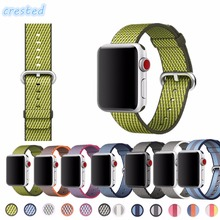 CRESTED NEW Woven Nylon band For Apple Watch 38mm 42mm strap wrist bracelet apple smart watch strap for iwatch Series 1 2 3 band