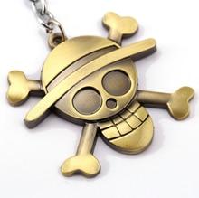 One Piece Zinc Alloy Keychain Pendants