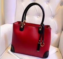 Free Shipping 2015 fashion women casual tote classical pu women handbags