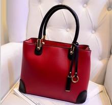 Freies Verschiffen 2015 mode frauen casual tote klassische pu frauen handtaschen