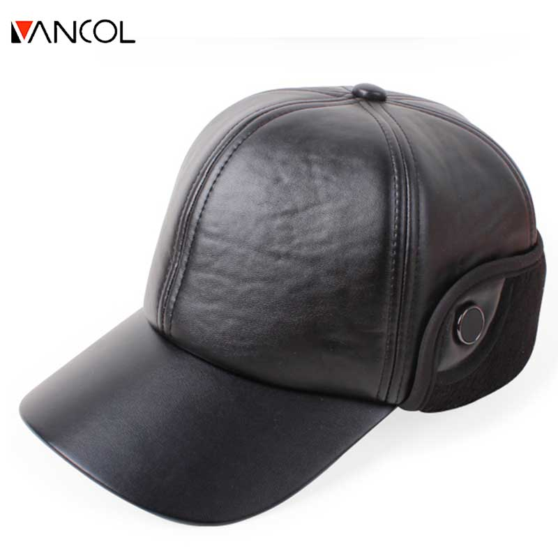 wool baseball cap ear flaps fleece high quality font winter hat men fur yankees with