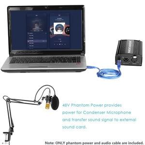 Neewer NW-800 Kondensator Mikrofon Kit mit USB 48V Phantom Power Versorgung/NW-35 Suspension Arm Stand/Shock Mount/Pop Filter