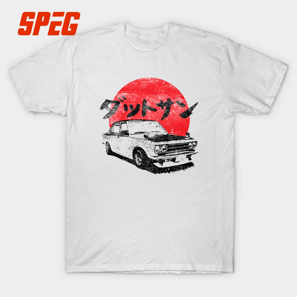e04e04ae Datsun 510 Japanese Vintage Old Style Car T Shirt Men's Short Sleeve Male  Round Neck 100% Cotton White Casual Boy Gift