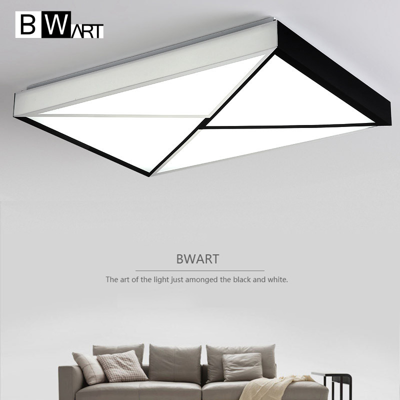 BWART Modern Ceiling lights for living room bedroom White Black Modern Ceiling lamp lustre lamparas colgantes