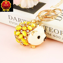 Hot Car Key Diamond Alloy Piglet Chain Hanging Ring Jewelry Bag Rings Pendant Ornament Girl