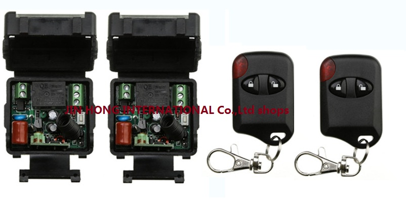 More cost-effective AC 220 v 1 ch wireless remote control switch 2 receiver +2 transmitter