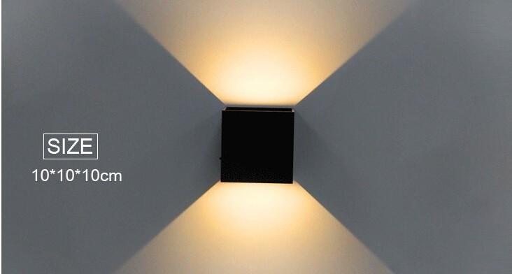 Ip67 крытый Привело Настенный Светильник Алюминиевый Регулируемый