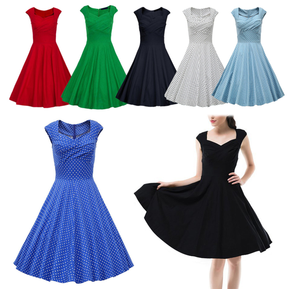Popular Rockabilly Dress Black-Buy Cheap Rockabilly Dress Black ...