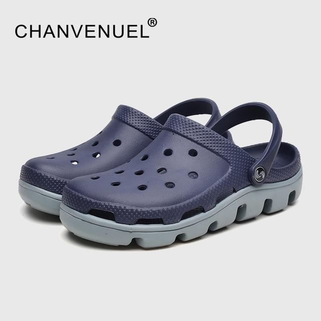 Hot Summer Mens Mules Clogs Eva Material Lightly Beach Garden Shoes Man  Slippers Clog Shoe Slipper