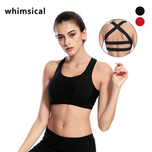 Whimsical Women Sports Bra Top For Running Sexy Gym Vest Push Up Underwear Fitness Yoga Quick Dry Bra Workout Tank Top