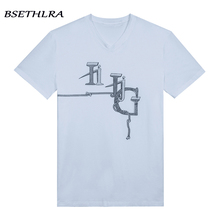 BSETHLRA 2017 New T Shirt Men Summer Spring Casual Tee Shirts Homme Suitable V-neck Fashion Brand Clothing Plus EU Size CT013
