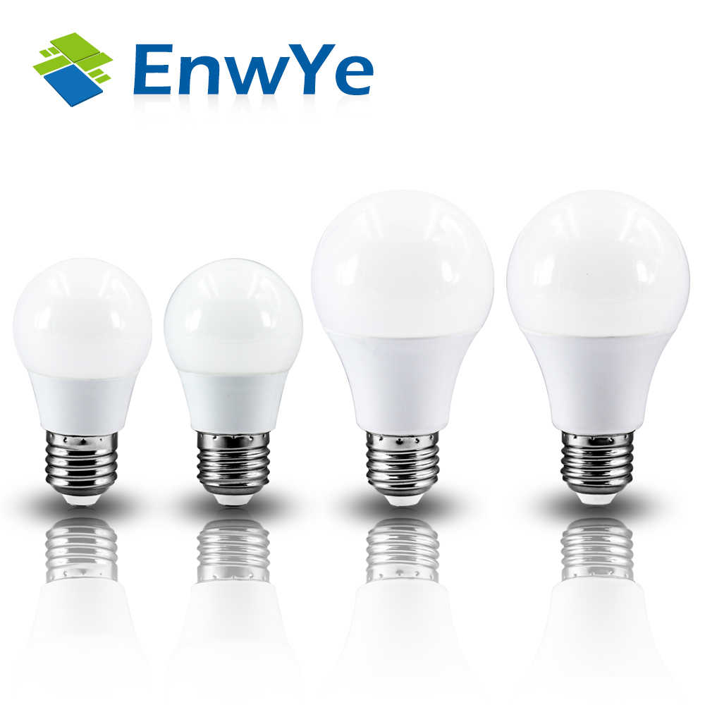 EnwYe LED 3W 6W 9W 12W 15W 18W 20W 220V E27 LED Bulb Lamp Smart IC Real Power Cold White/Warm White Lamp