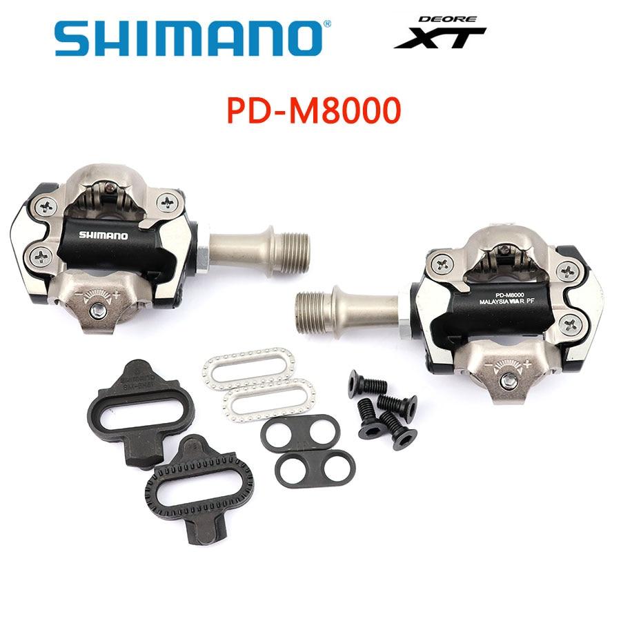 Shimano DEORE XT PD M8000 pédales auto-bloquantes boîte de pédales vtt composants utilisant pour les accessoires de VTT de course de vélo