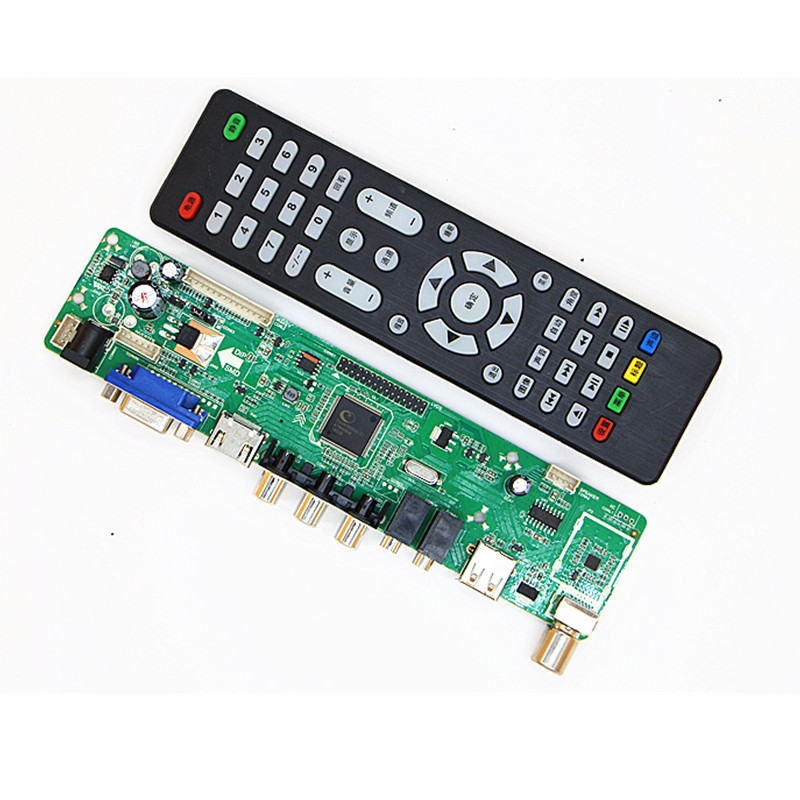 V56 MV56RUUL-Z1 Universal LCD TV Controller Driver Board TV/PC/VGA/HDMI/USB Interface USB Play Multi-Media  Interface
