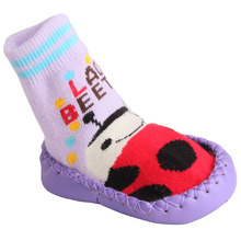 Toddler baby sock with rubber soles Cartoon animal With doll bell chaussette enfants kawaii walker meia antiderrapante MU602249