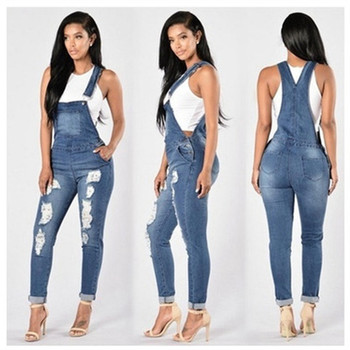 2019 Summer Womens Denim Jumpsuits Overalls Sexy Jeans ladies spring Office Casual Pocket Pencil Pants elegant jeans jumpsuit