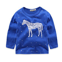 New 100% Cotton Shirt Boys Casual Long Sleeve T Shirt For 2-6 Years Children Kids Boys Tops Tees Baby Child Clothes T Shirt