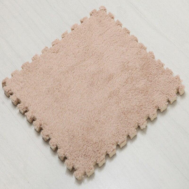 Ткань лохматый 30x30 см Коврик-головоломка пена бархатистый коврик EVA пена EVA домашняя пена коврик - Цвет: Camel