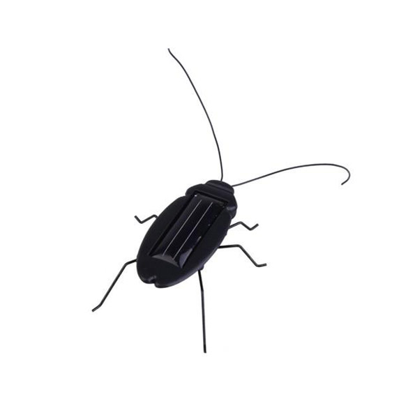 New Black Solar Power Cockroach Insect Bug Teaching Toy Gift HB88