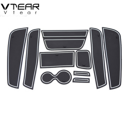 Vtear For Renault Kaptur Captur QM3 Door Groove Mat anti slip mat slot pad carpets Interior decoration car-styling accessory