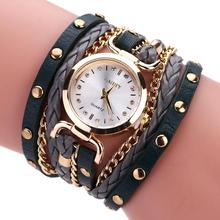 Vintage Weave Wrap Quartz Leather Wrist