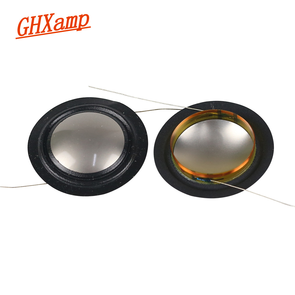GHXAMP 25.4mm Imported Metal Titanium Film + Silk Side Diaphragm 25 Core Tweeter Voice Coil Speaker Repair Film 8 OHM 1 Pairs