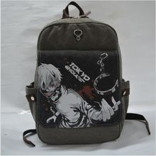 Hight Quality Printing Cartoon Backpack School Bag For  Teenagers Travel Bags Men's Canvas Daily Tokyo Ghoul Backpack