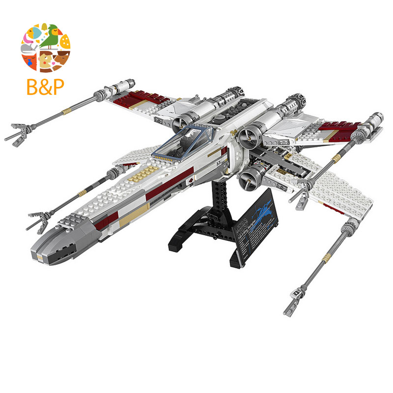 lepin Legoing 10240 1616pcs star series wars The Red Five X-wing Starfighter Building Blocks Brick Gift Toys For Children 05039 lepin 05039 star wars red five x wing starfighter figure blocks construction building bricks toys for children compatible legoe