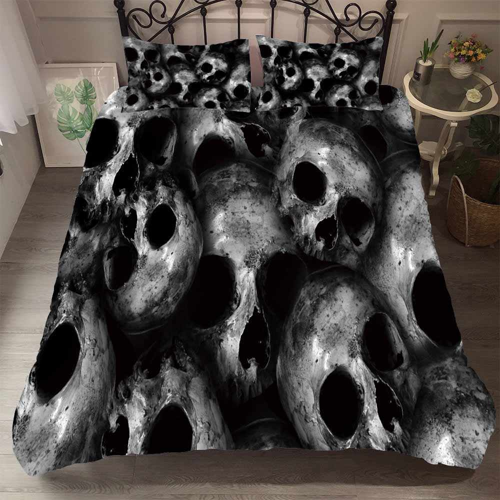 Suger Skull 3D Print Microfiber Duvet Cover Set 3PCS with 2 Pillowcase AU/EU/US Size Family Bed Linne Set Bedclothes Bedding Set