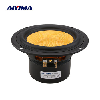 AIYIMA 1Pc 5 Inch Mid Woofer Speaker Column 100W Fiberglass Cone DIY Fever Sound Music Speaker Bass Loudspeaker For Sound System sound control electronic crystal column making light of cubic led diy producing sound music spectrum parts kit